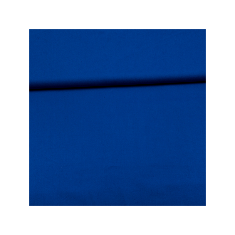 Cotton poplin royal blue