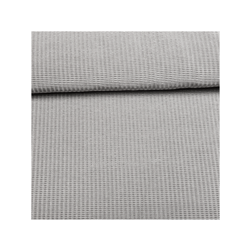 Ribbed stretch dress fabric silver