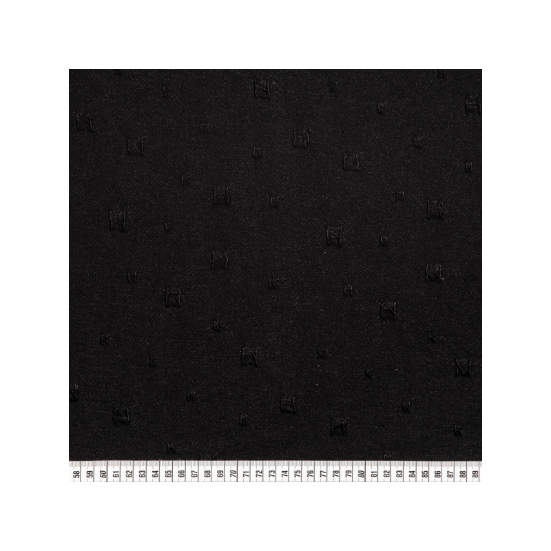 Knitted jacquard squares black