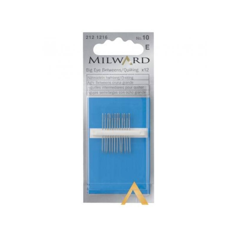 Big eye betweens/quilting needles no.10 12 in pack