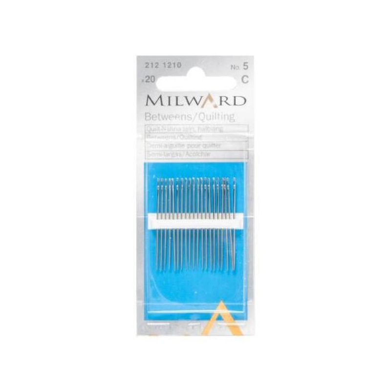 Betweens/quilting needles no.5 20 in pack