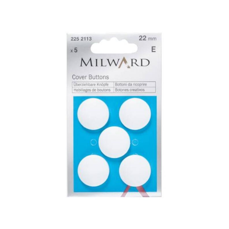 Cover buttons 22mm 5 in pack