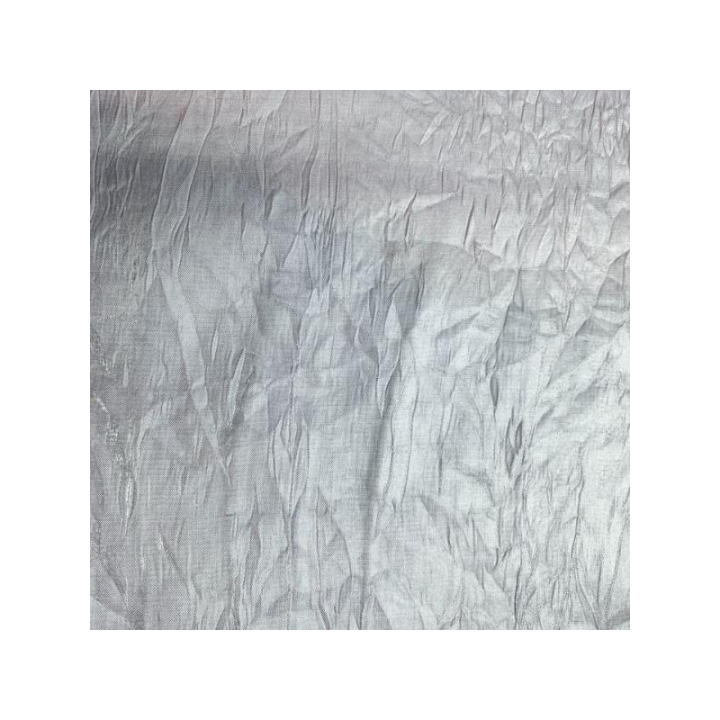 Wrinkled silver fabric