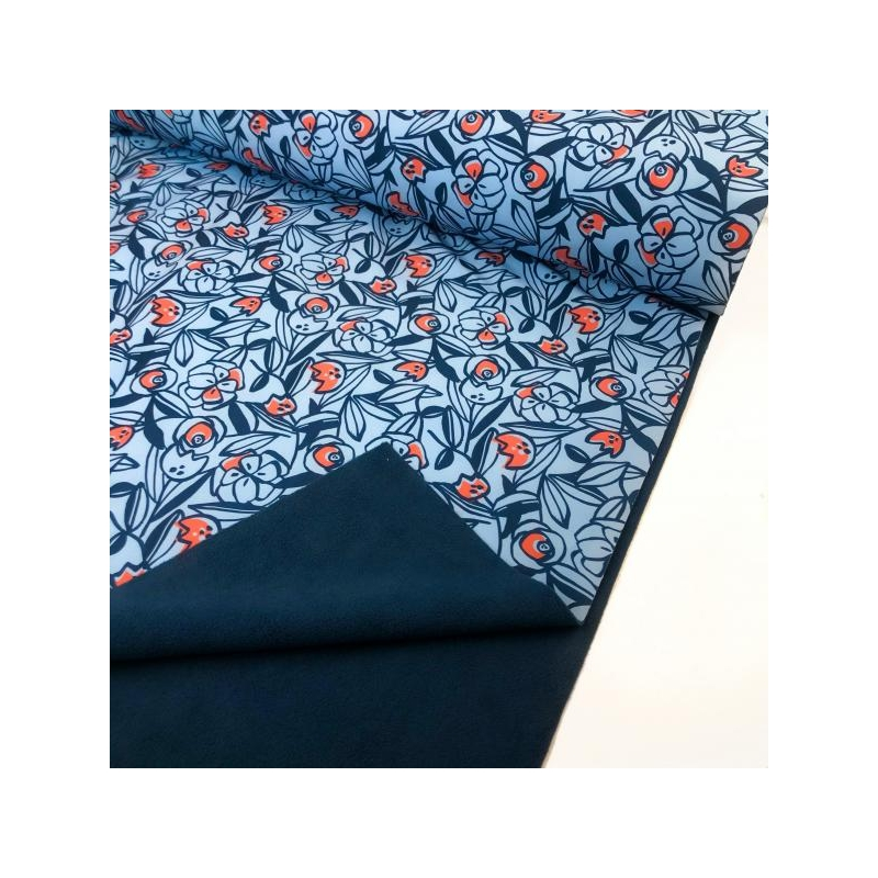 Softshell flowers blue
