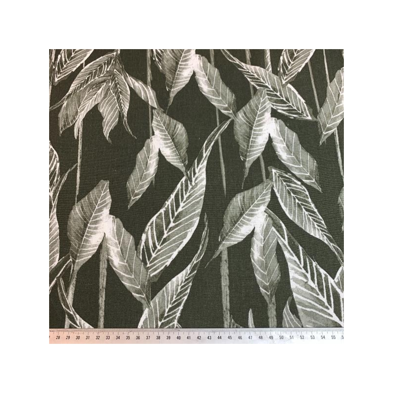 Linen viscose plants green