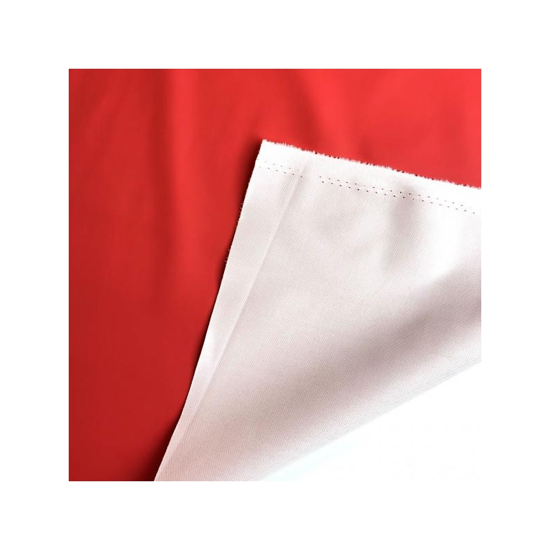 Rubber water repellent fabric red