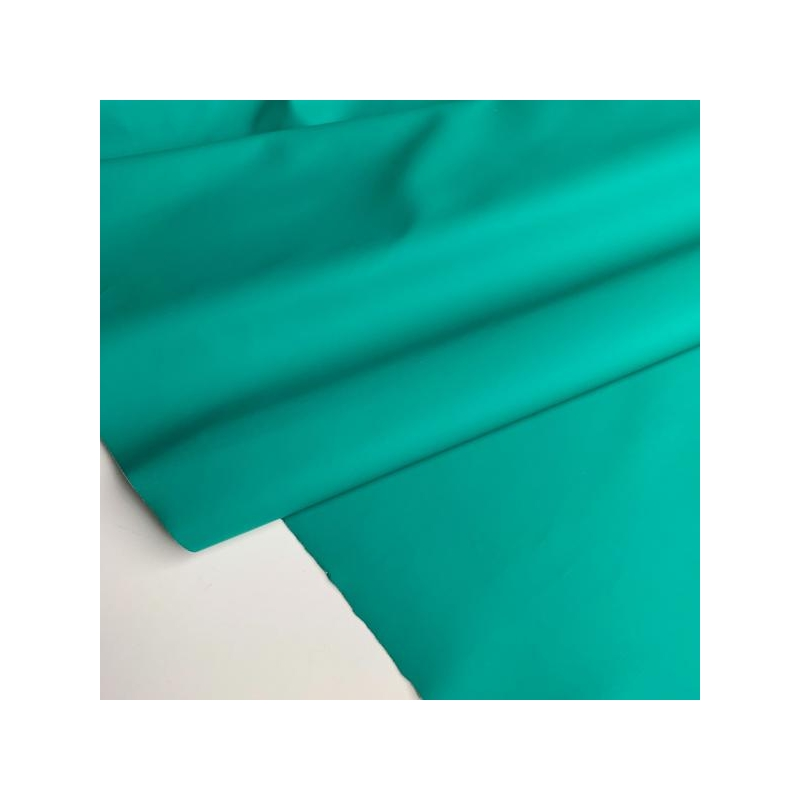 Rubber water repellent fabric green