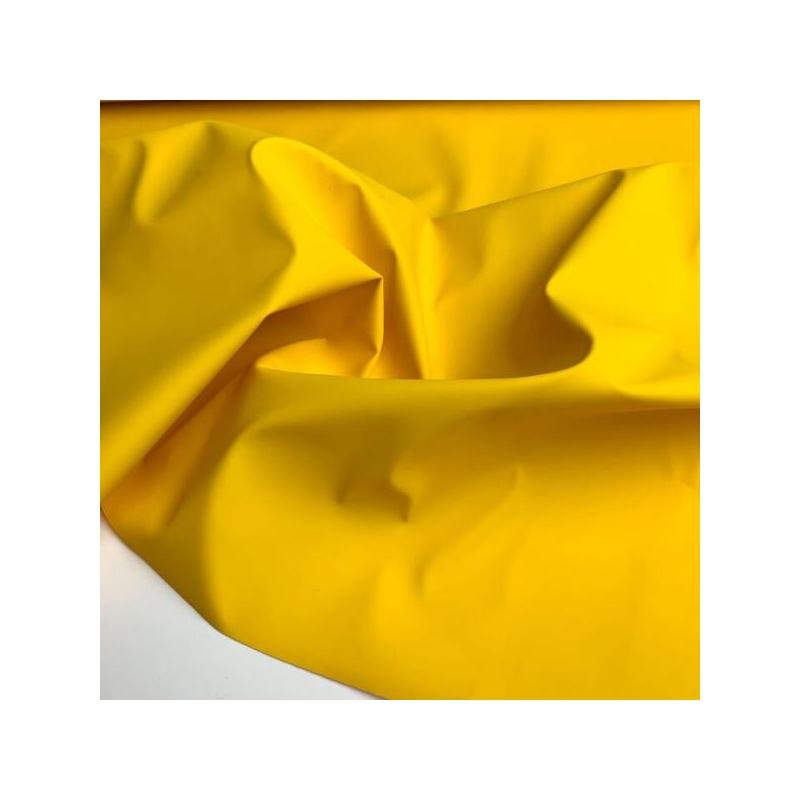 Rubber water repellent fabric yellow
