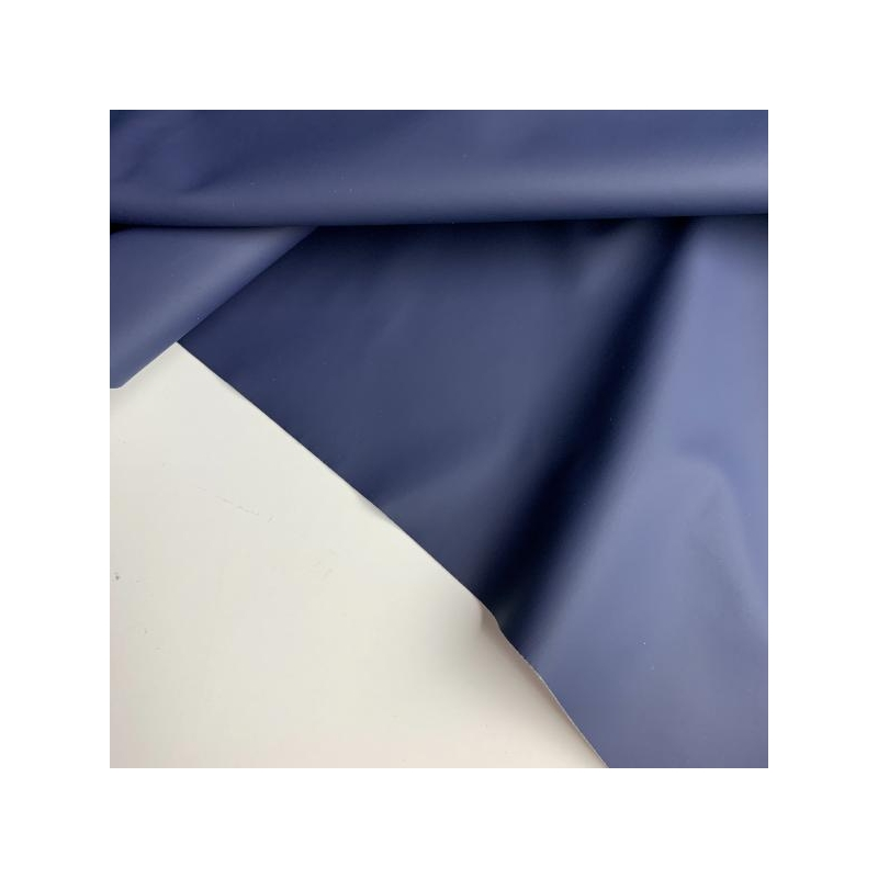 Rubber water repellent fabric blue