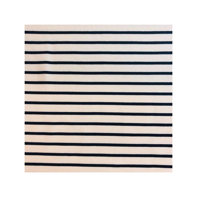 Cotton jogging stripes ecru/navy