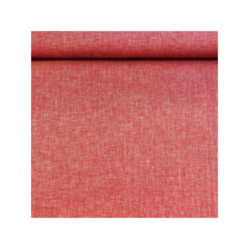 Linen cotton twill red