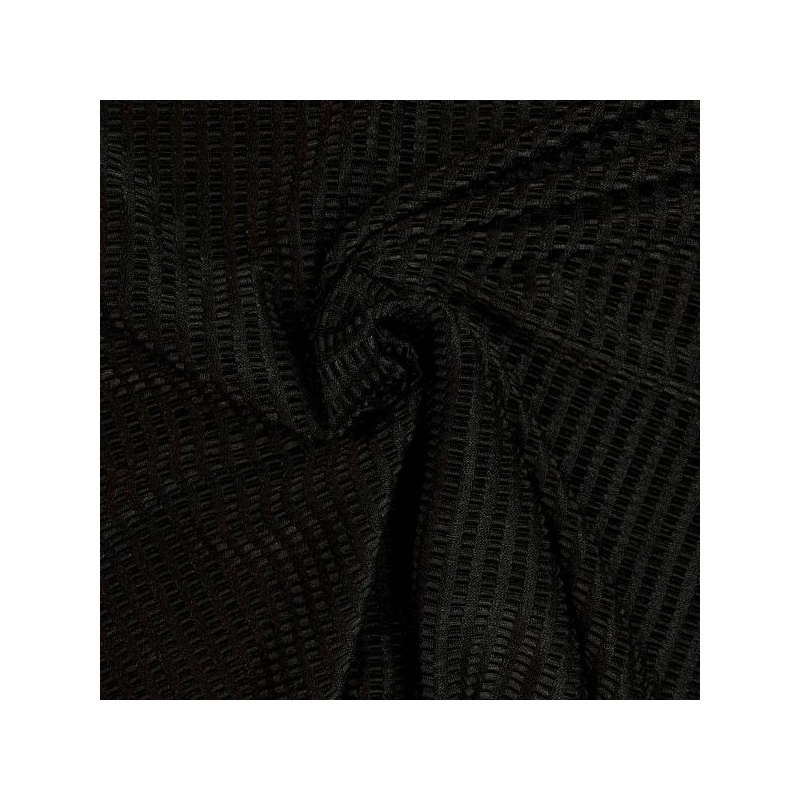 Ribbed stretch dress fabric black