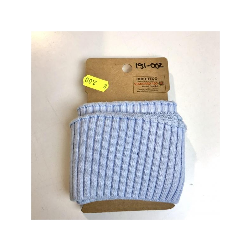 Rib pack knitted light blue