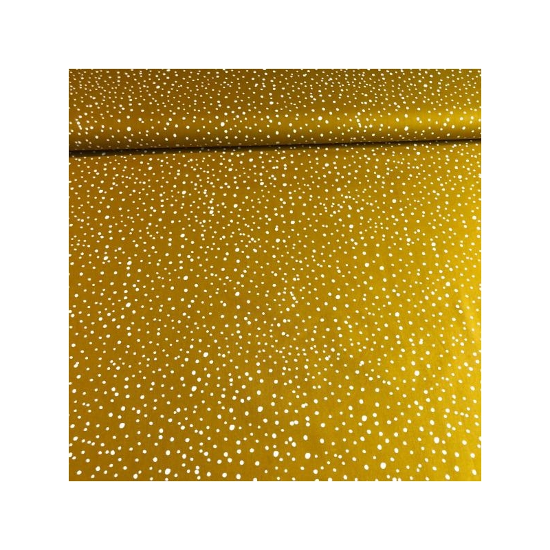 Cotton poplin dots ocre