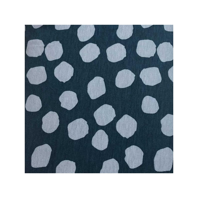 Viscose jersey light blue dots blue