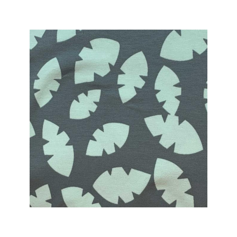 Cotton jersey paper leaves green