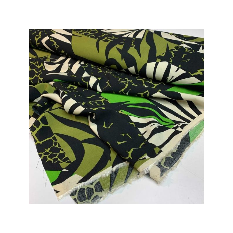 100% viscose jungle green