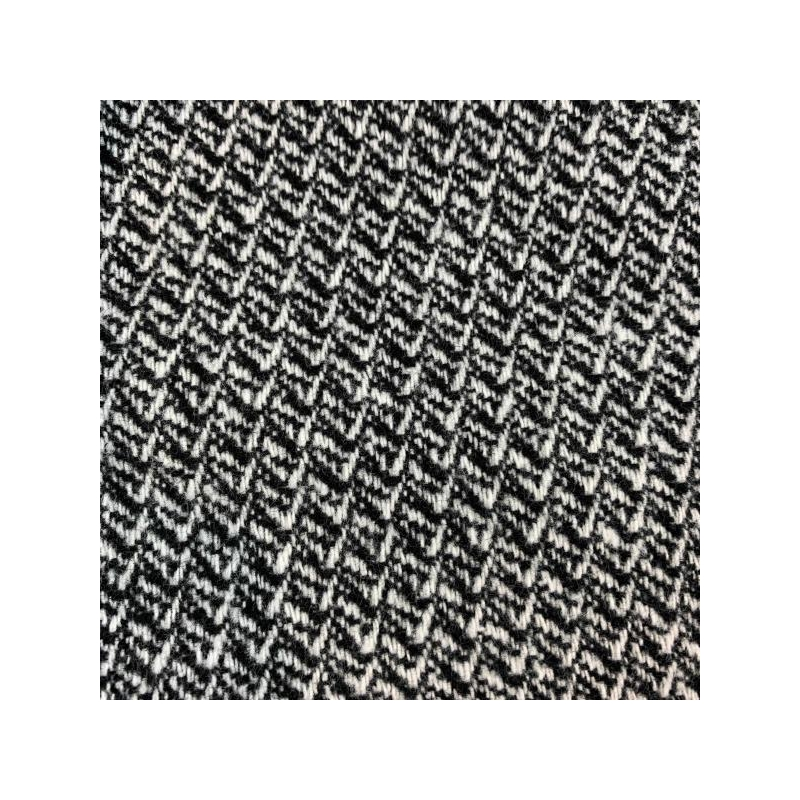 Wool fabric small print black and white