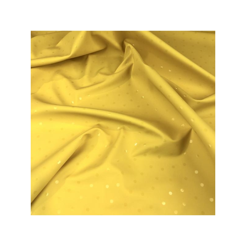 Waterproof fabric with dots yellow