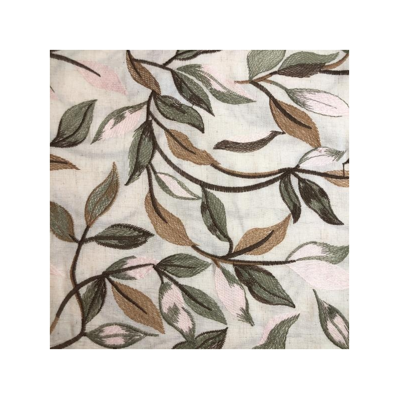Leinen viscose leaves pink