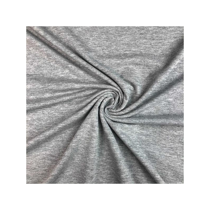 Cotton french terry grey melange
