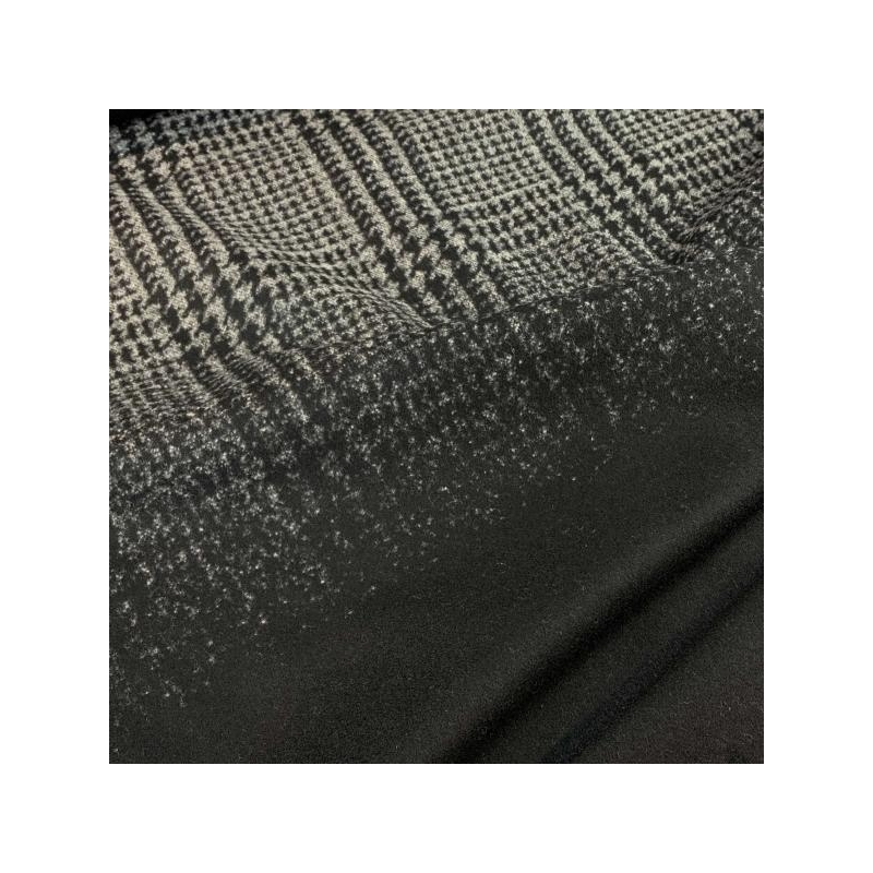 Wool fabric ombre black and grey