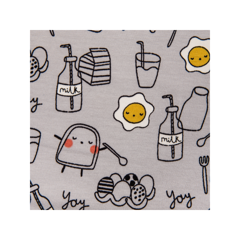 Cotton jersey printed little breakfast buddies multicolored