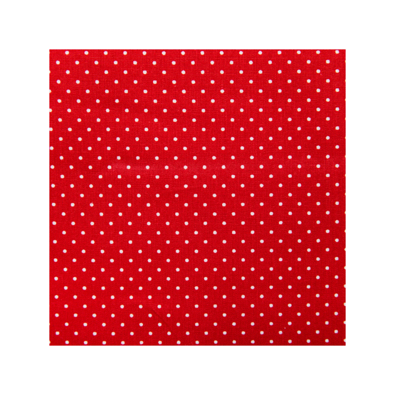 Cotton poplin printed smaal dots red