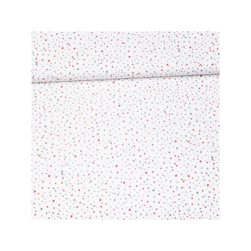 Cotton poplin printed dots multicolored