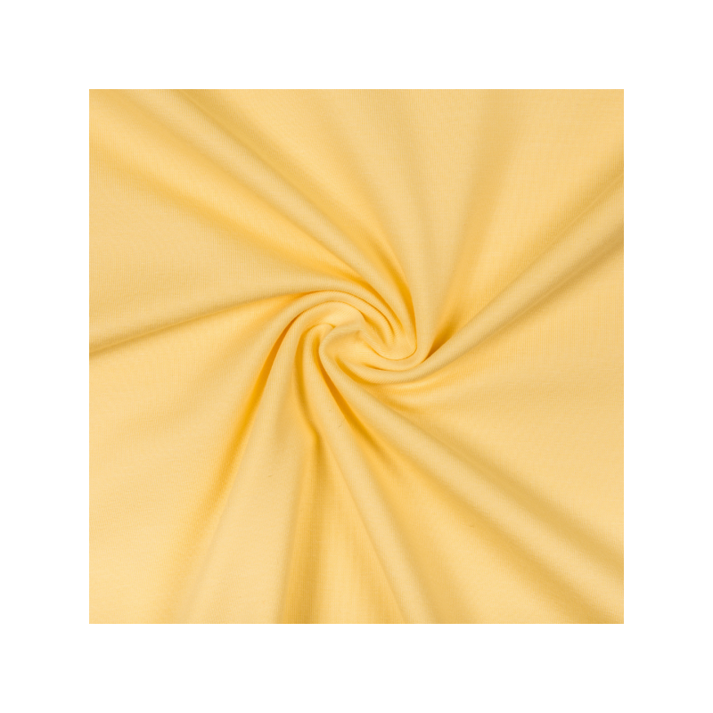 Cotton jersey light yellow