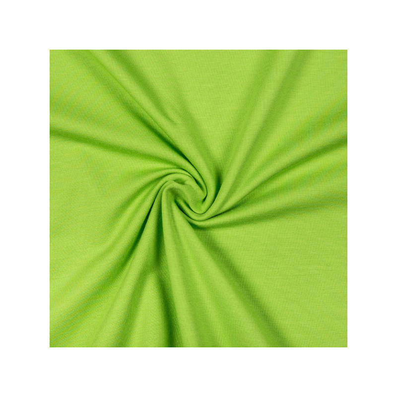 Cotton jersey lime green