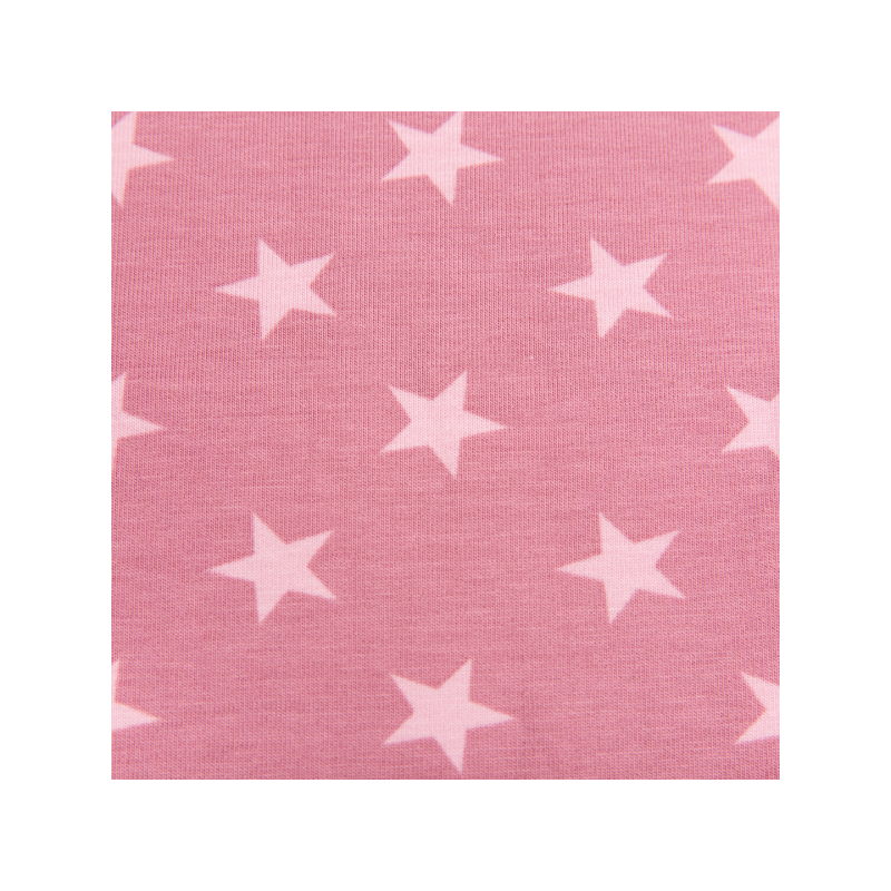 Cotton jogging printed big stars pink