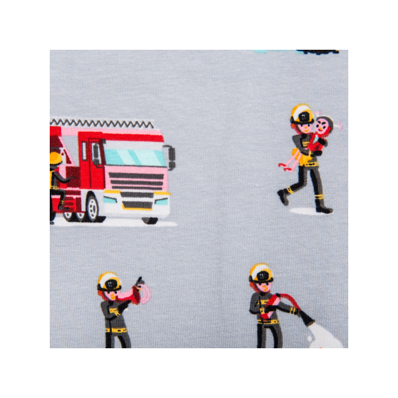 Cotton jersey printed fireman multicolored