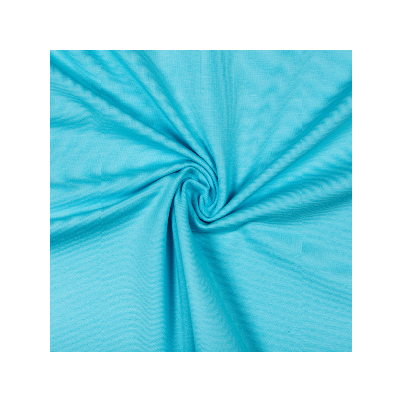 Cotton jersey bright light blue