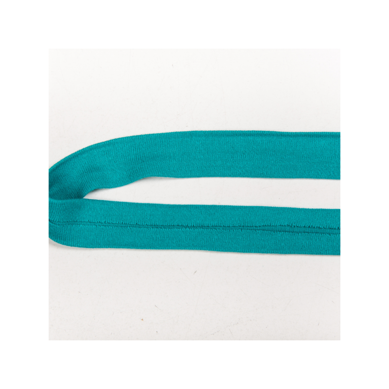 Folded cotton jersey biasband turquoise