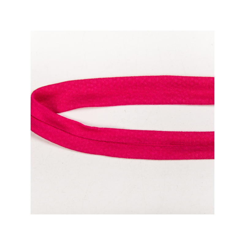 Folded cotton jersey biasband fuchsia
