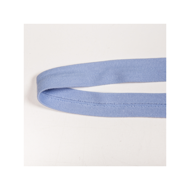 Folded cotton jersey biasband dusty blue
