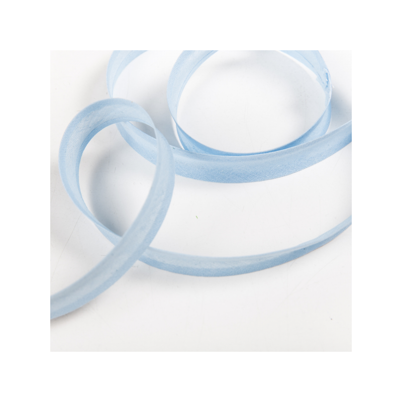 100% cotton biasband baby blue