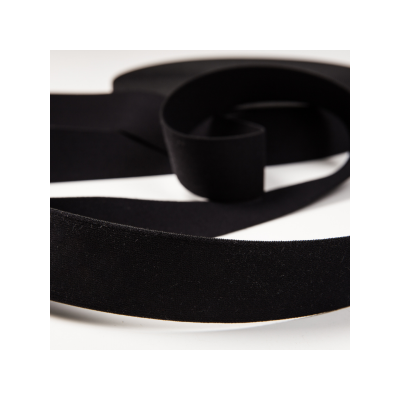 Soft touch elastic black