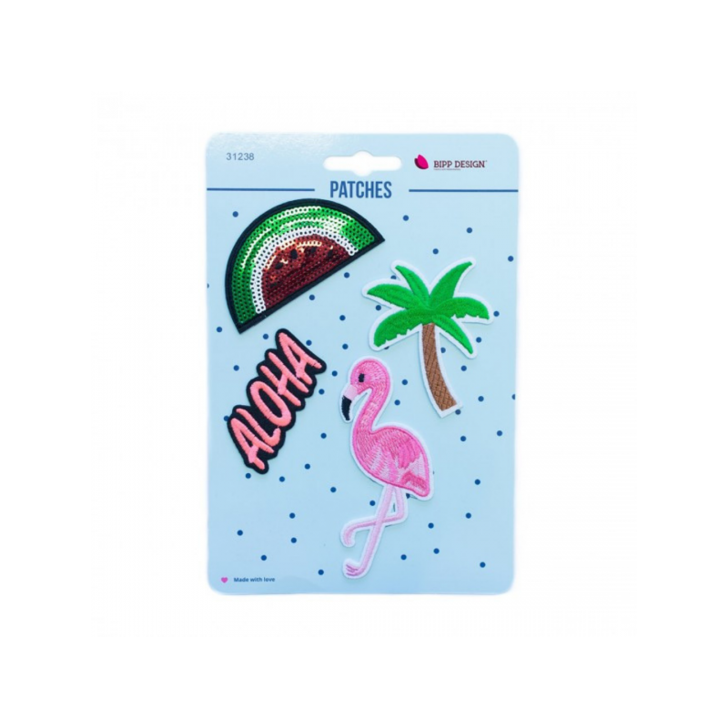 Iron on patches flamingo