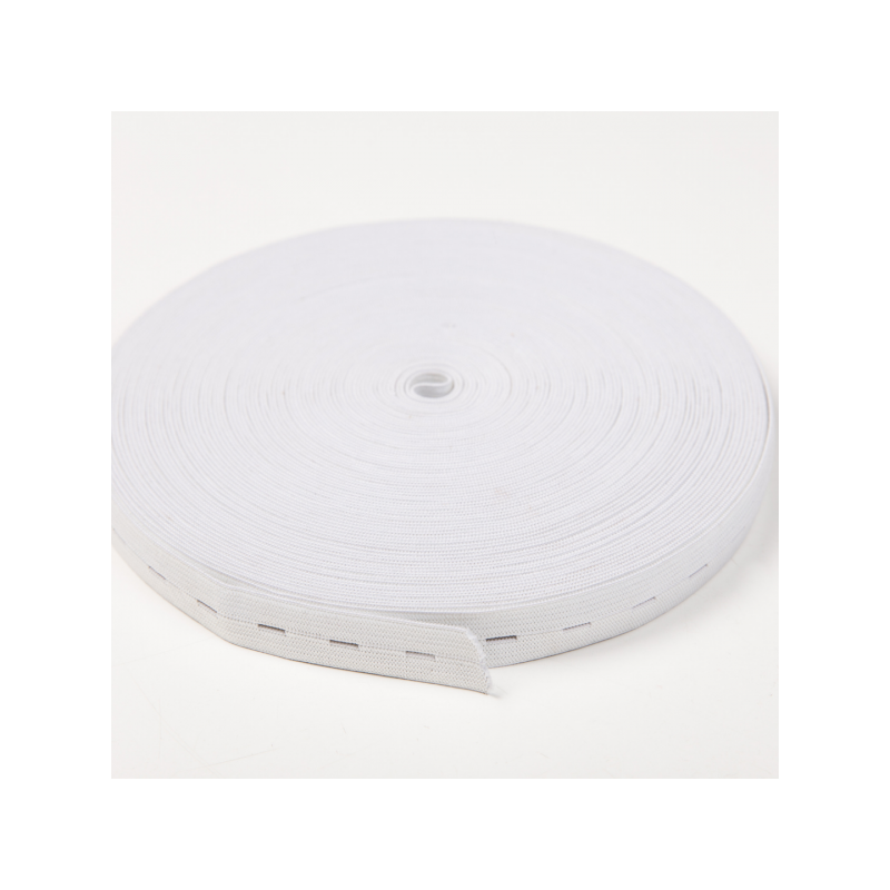 Buttonhole elastic white 20 mm