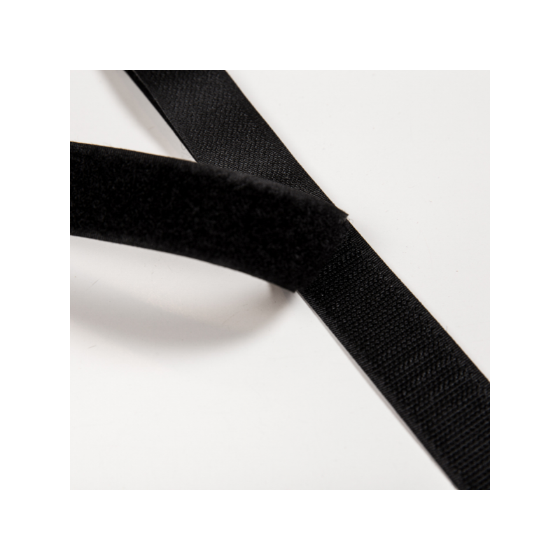 Velcro strap black 25 mm