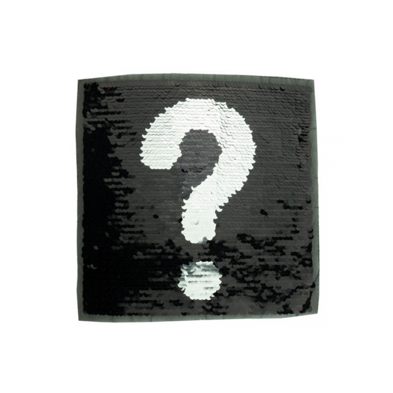 Reversible sequin patch sew on exclamation question