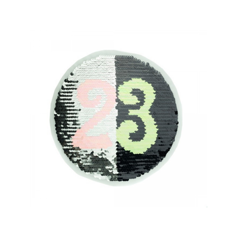 Reversible sequin patch sew on twenty three multicolored