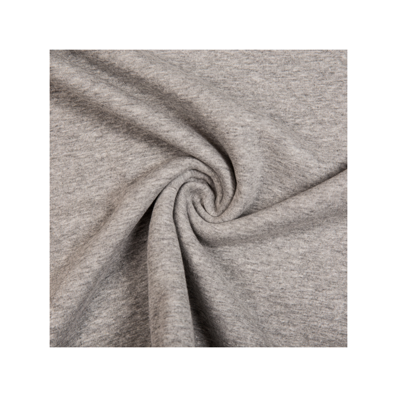 Cotton jogging fleece melange grey
