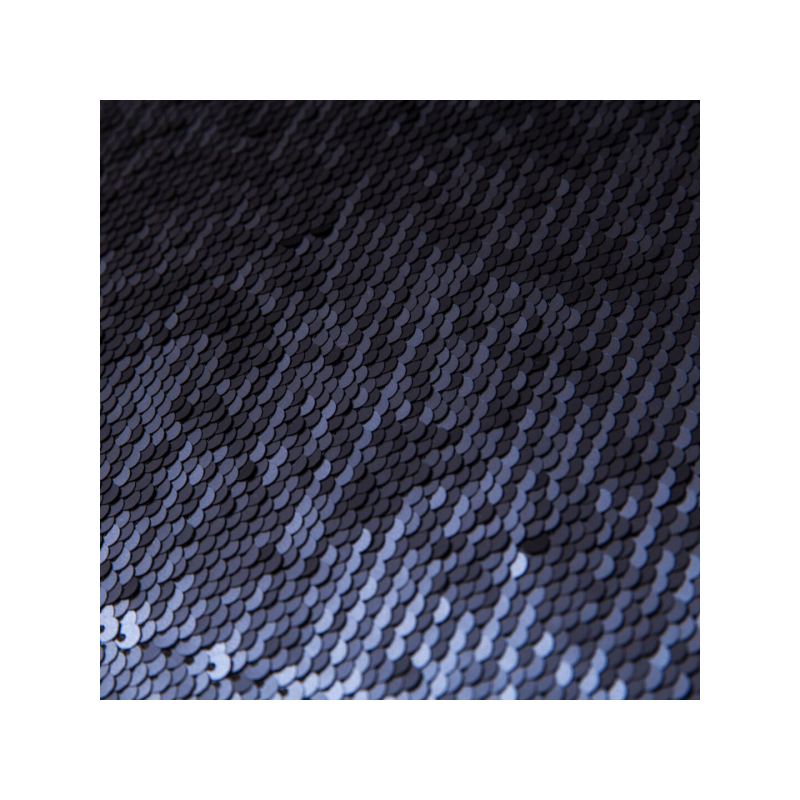 Reversible sequin fabric black and navy