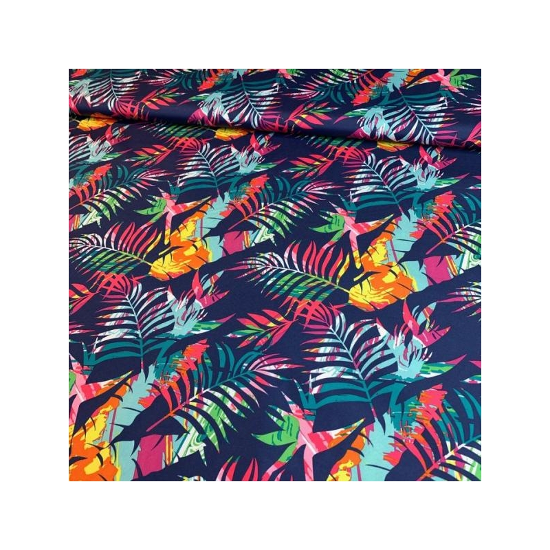 Water repellent tropical leaves multicolored