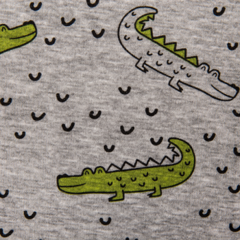 Jooging fleece printed crocodiles multicolored