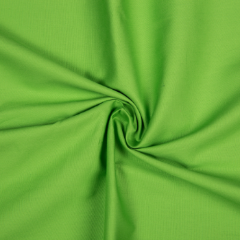 Cotton poplin lime green