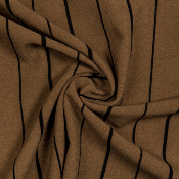 Crepe de luxe stripes brown